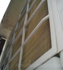 Радиатор внешнего блока