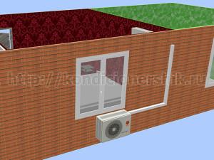 Внешний блок слева под окном