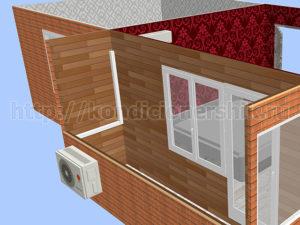 Внешний блок на балконе