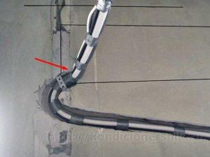 Укладка трубок под кондиционером