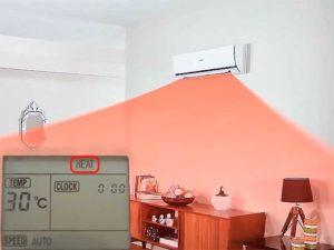 Сплит-система работает на тепло