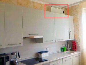 Сплит-система над кухонным гарнитуром