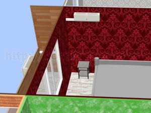 Внутренний блок справа с лоджией