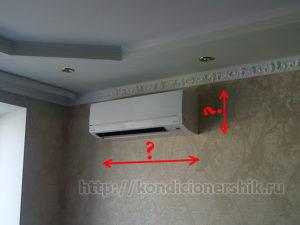 Размер кондиционера – внутренний блок настенной сплит-системы