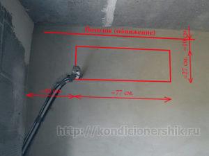 Расстояния от стен до потолка