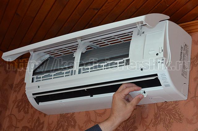 Как разобрать внутренний блок кондиционер panasonic где купить в краснодаре недорого сплит систему