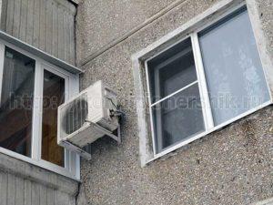 Открытое окно при включенном кондиционере
