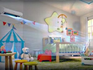 Кондиционер установлен в детской комнате