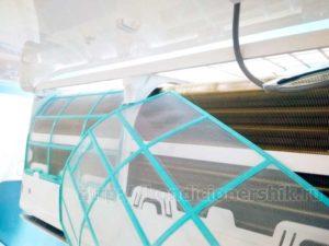антикоррозийное покрытие Golden Fin на радиаторе внутреннего блока